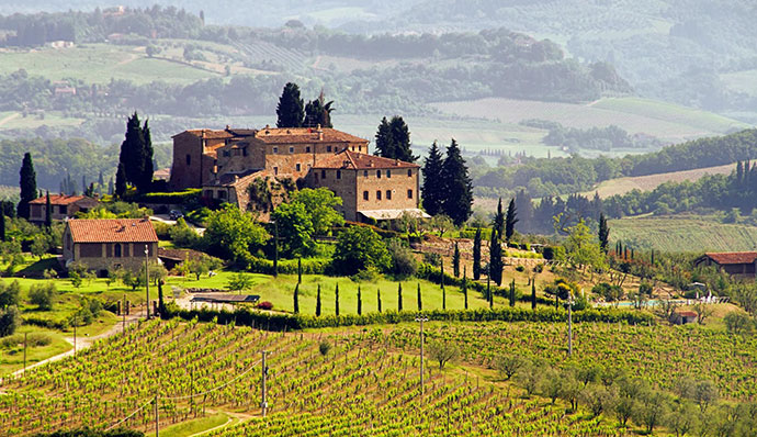 Винные туры в Италию (фото пейзажа)