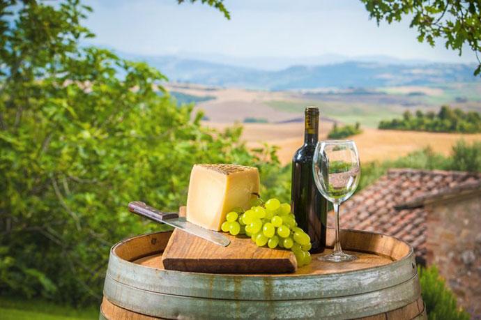 Дегустационный тур (Тоскана). Фото вина и продуктов