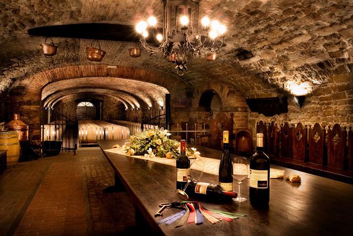 Дегустация вина (Фриули-Венеция-Джулия). Фото винного погреба